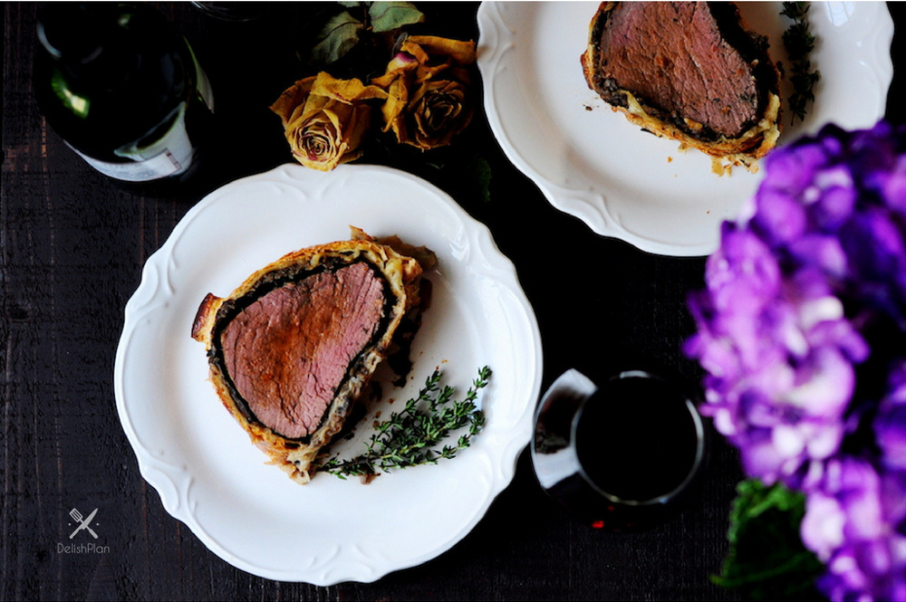 This beef wellington recipe is a perfect date-night-in dish. It's classic, fancy, and indulging but not too difficult to put together. With a few tricks, you'll be able to make this famous main course for any special occasions.