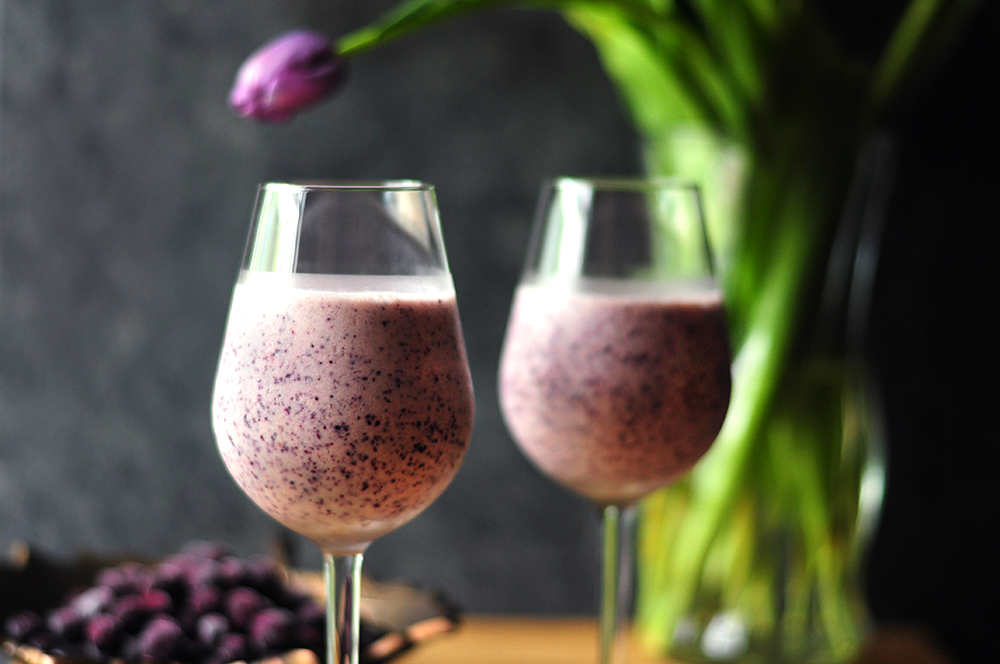 Blueberry Cream Wine Slush