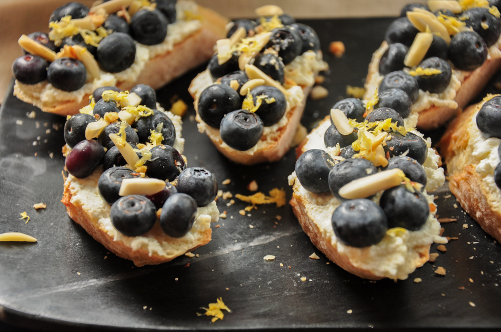 Blueberry Ricotta Toast