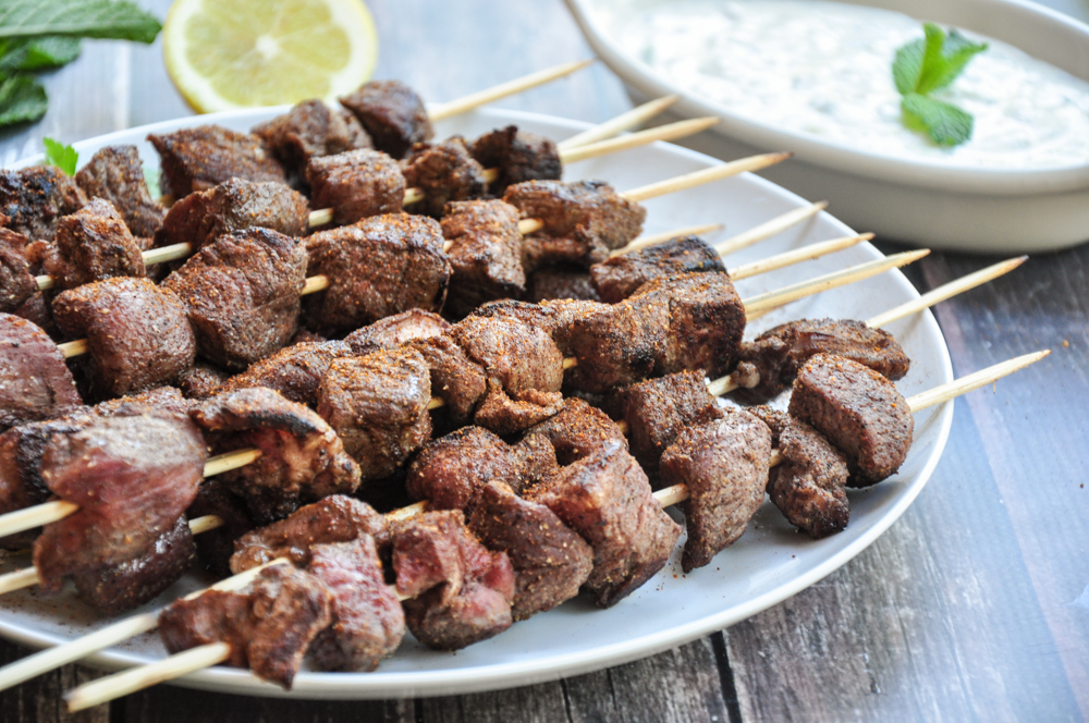 Grilled Lamb Kabobs with Tzatziki