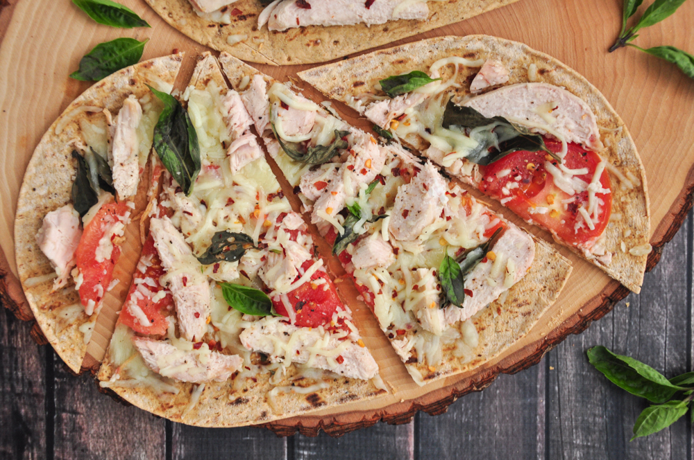 Grilled Chicken Flatbread Pizza