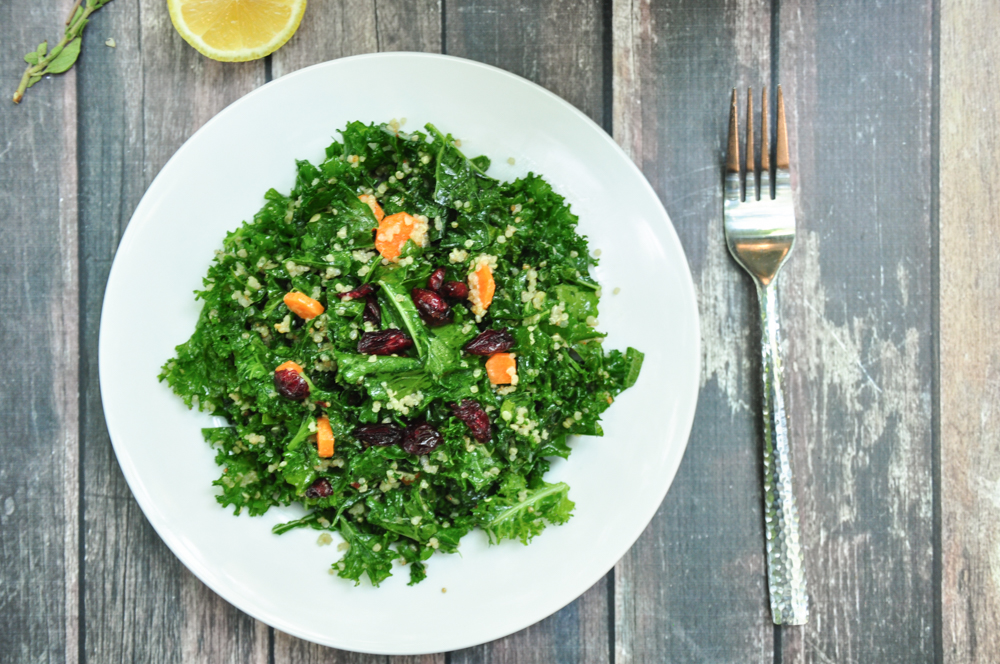 Kale Quinoa Salad with Oregano Lemon Vinaigrette
