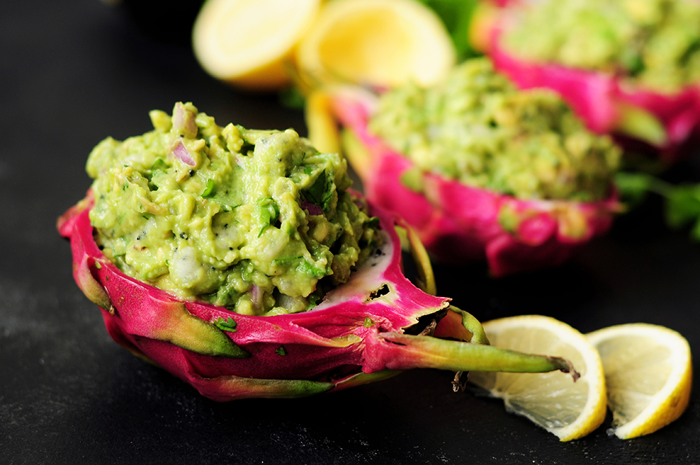 Dragon Fruit Guacamole