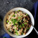 Looking for a one-pot, real simple, no babysitting, yet still delicious risotto recipe? This Fusion Cooker mushroom risotto checks off all your boxes.