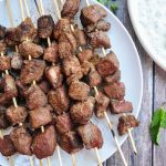 Grilled Lamb Kabobs with Tzatziki Sauce