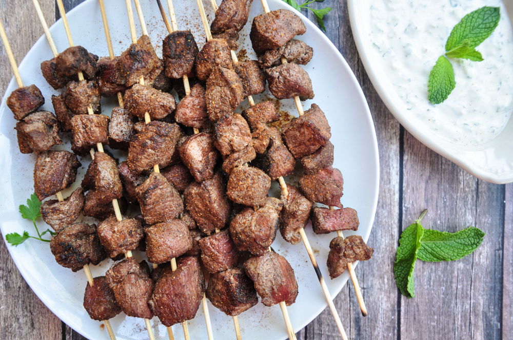 Grilled Lamb Kabobs with Tzatziki Sauce-3