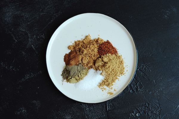 Combine all jerk dry-rub ingredients in a small bowl.