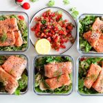 Sous Vide Salmon with Pico de Gallo & Quinoa Salad [Meal Prep Sunday]