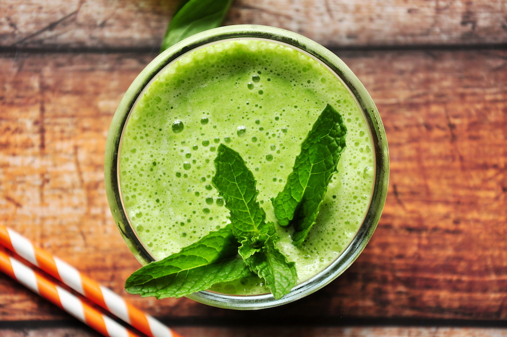 Pineapple Smoothie with Kale and Spinach