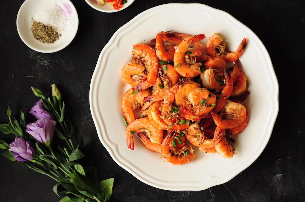 Healthy Chinese Salt and Pepper Shrimp
