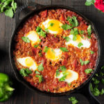 Shakshuka Recipe with Red Enchilada Sauce {Video}