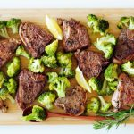 Sous Vide Lamb Chops with Steamed Broccoli