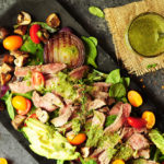 Make salad more exciting by adding succulent steak and chimichurri with this steak salad recipe. You'll have a healthy and glorious meal in just 30 mins.