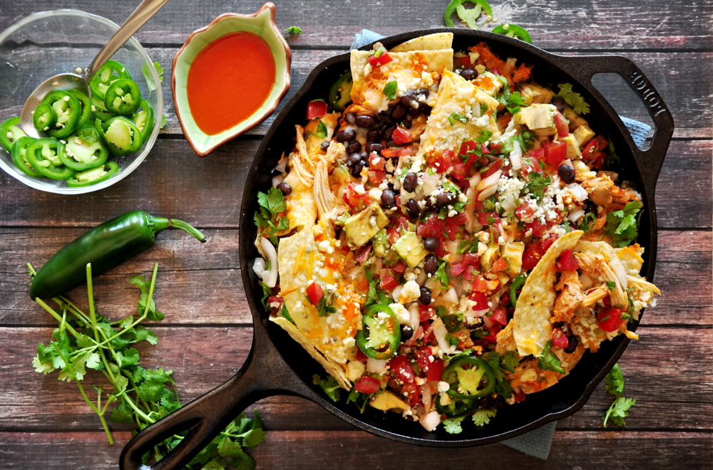 Three-Cheese Buffalo Chicken Nachos