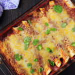 Garlic Turkey Enchiladas