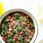 Warm Black Bean Salad with Kale and Tomatoes